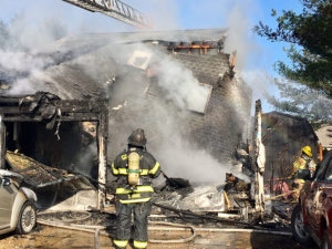 Fire destroyed home in the first block of Ferris Court in Beaver Brook Crest neighborhood, south of New Castle. (Photo: Delaware Free News)
