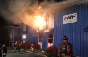 Fire heavily damaged Amp Manufacturing business at 6 Hadco Road in Elsmere. (Photo: Delaware Free News)