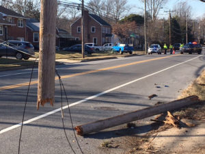 Fatal crash happened in the 600 block of Harvey Road in Claymont. (Photo: Delaware Free News)