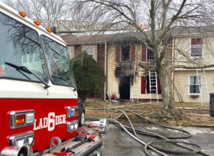 Fire swept through home on Sunny Bend in Four Seasons neighborhood in Glasgow. (Photo: Delaware Free News)