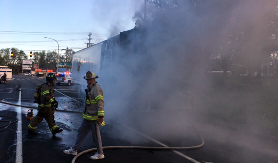 Tractor-trailer fire disrupts Route 7 traffic – Delaware Free News