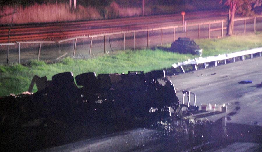 Police identify Newark man killed in I-495 tanker crash in