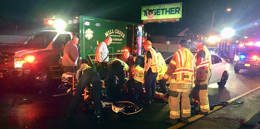 Pedestrian struck by car on Kirkwood Highway – Delaware Free News